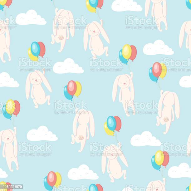 Seamless pattern ute hare and rabbit flying in the sky on balloons vector id1164221979?b=1&k=6&m=1164221979&s=612x612&h=rhvybbkjs7kxv1c6mdahwhgz2zndgmpxp9aqmyl rta=