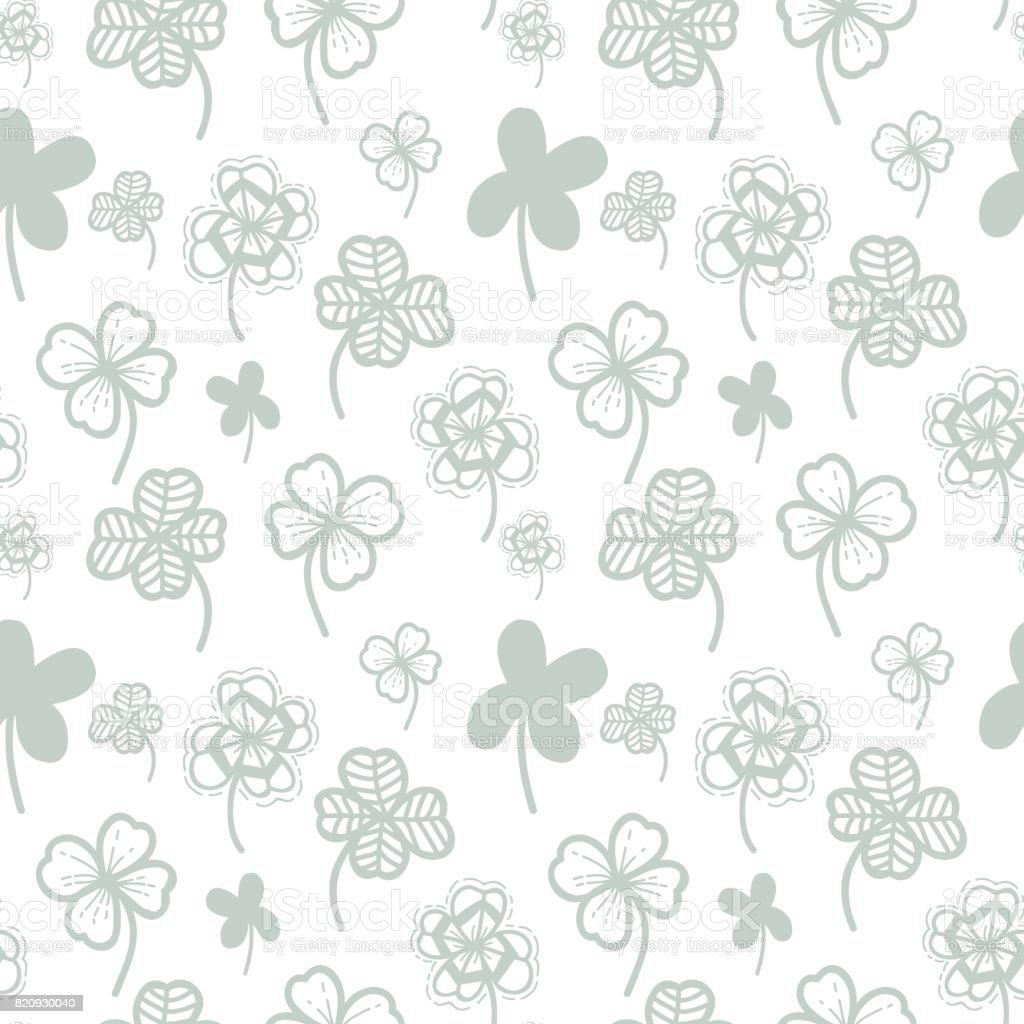 Nahtlose Muster Vektor Floral Hintergrund Mit Hand Gezeichnet