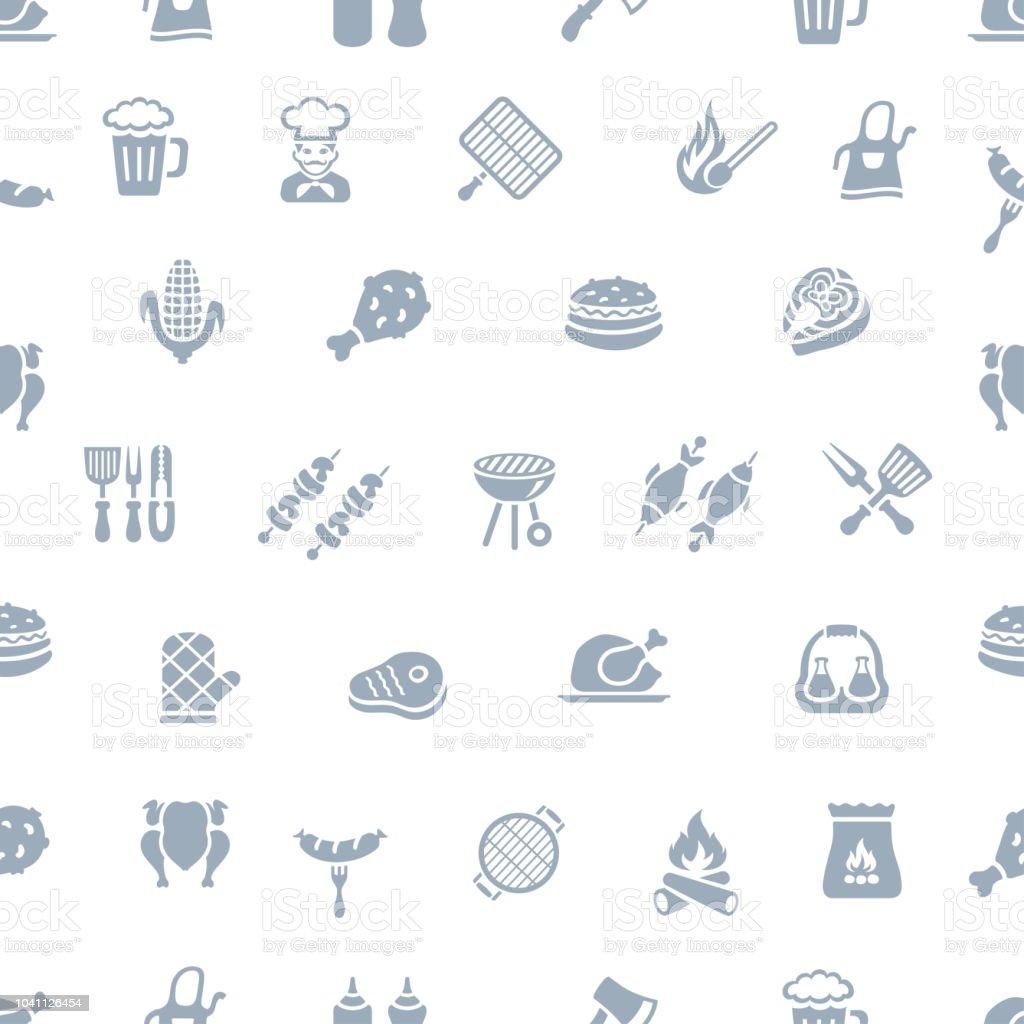 BBQ seamless pattern vector art illustration