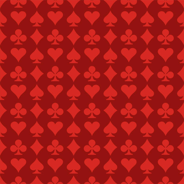 Seamless Pattern Seamless Pattern Playing Card Symbols casino stock illustrations