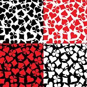 Seamless Pattern Playing Card Symbols