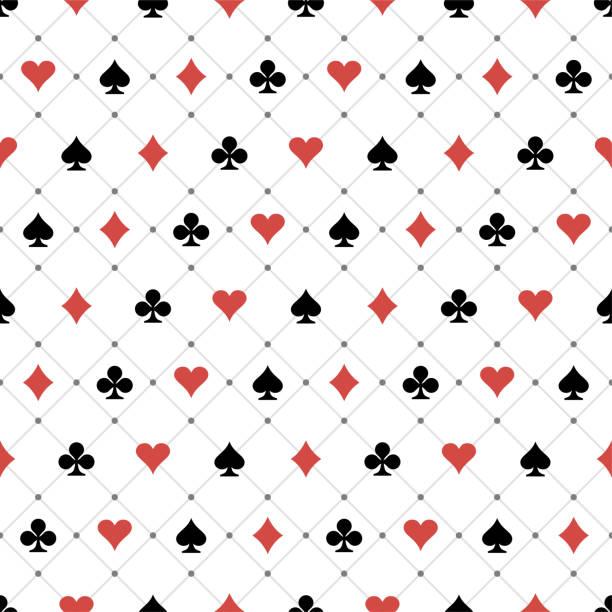 Seamless Pattern Seamless Pattern Playing Card Symbols poker stock illustrations