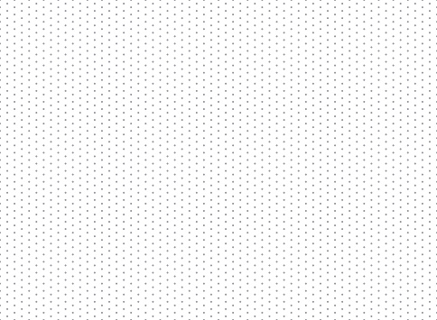 Seamless geometric pattern. Gray dots on a white background. 300 x 220 mm