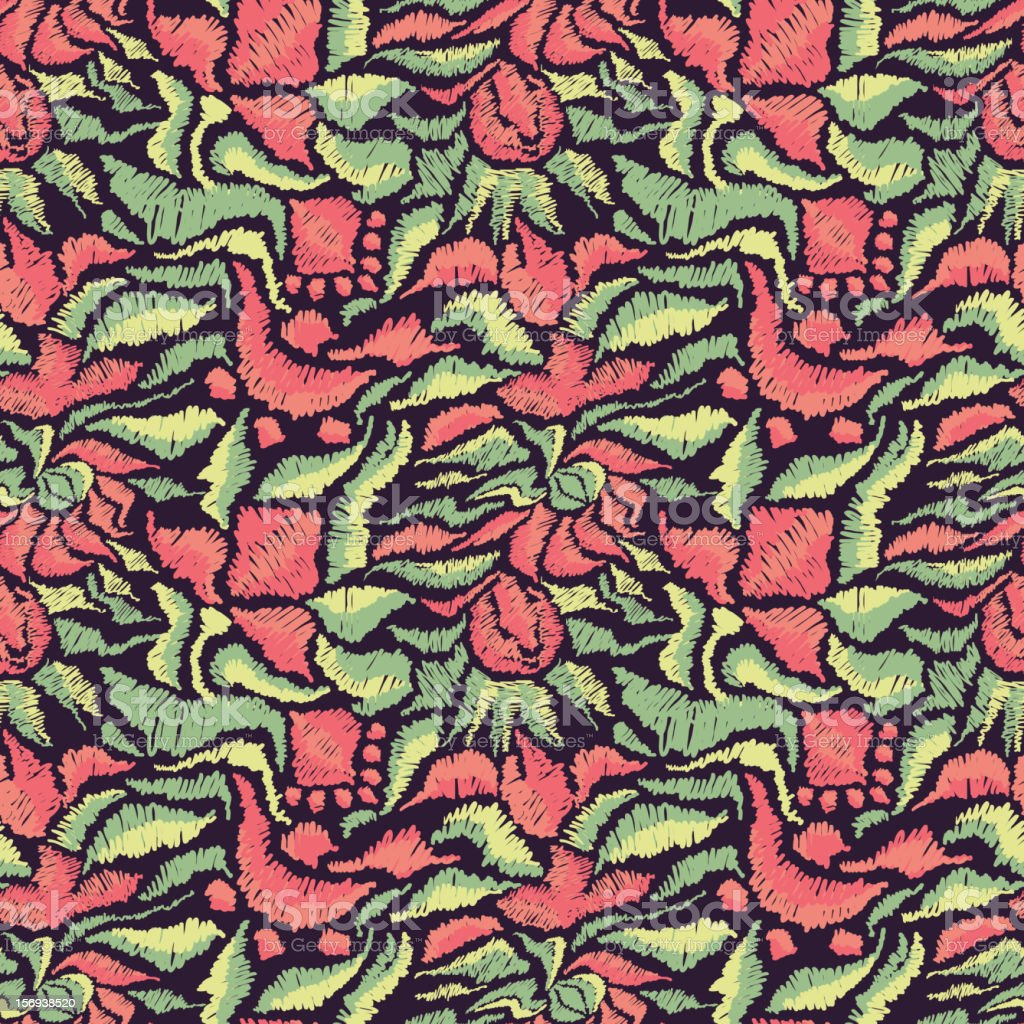 Seamless pattern royalty-free seamless pattern stock vector art & more images of embroidery