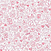 Seamless pattern for Valentine's day.
