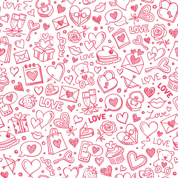 Seamless pattern Seamless pattern for Valentine's day. valentine card stock illustrations