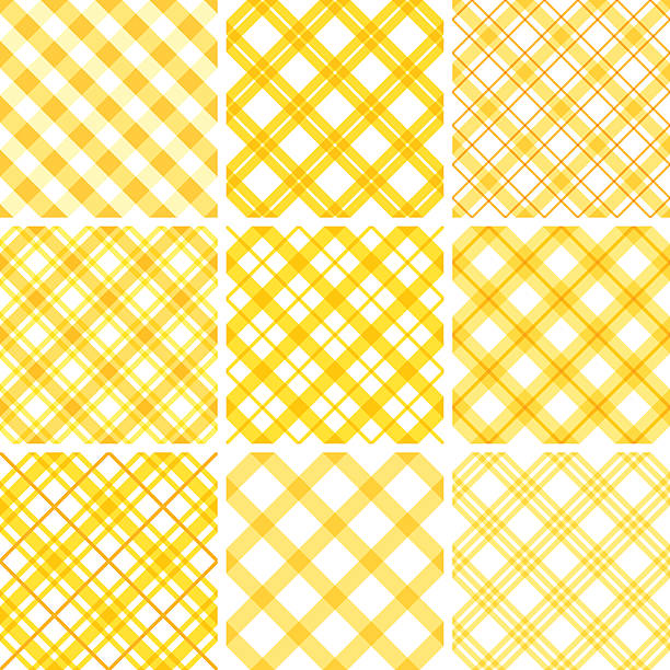 Seamless pattern Set of nine checkered seamless patterns. tartan pattern stock illustrations
