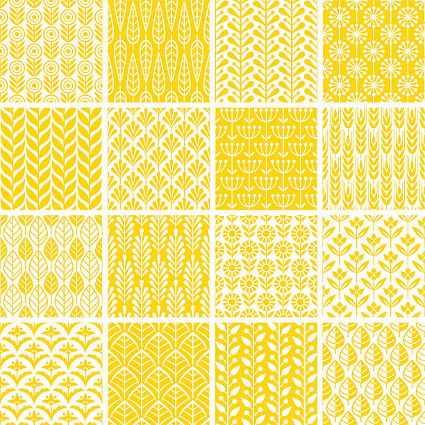 seamless pattern - floral and decorative background stock illustrations