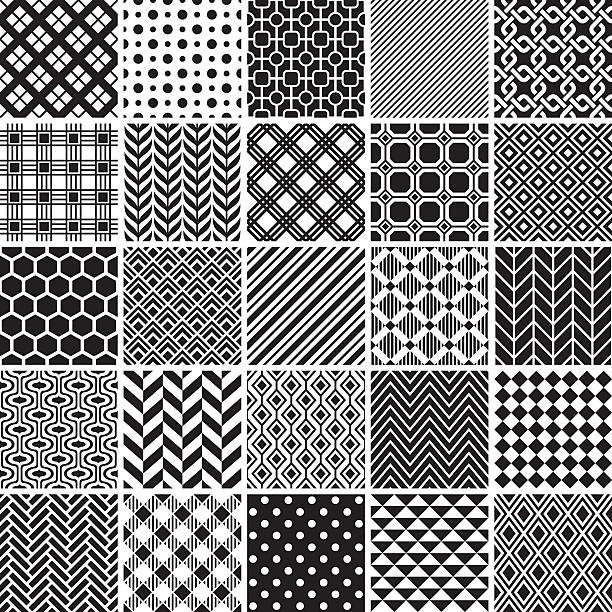 seamless pattern - black and white stock illustrations, clip art, cartoons, & icons