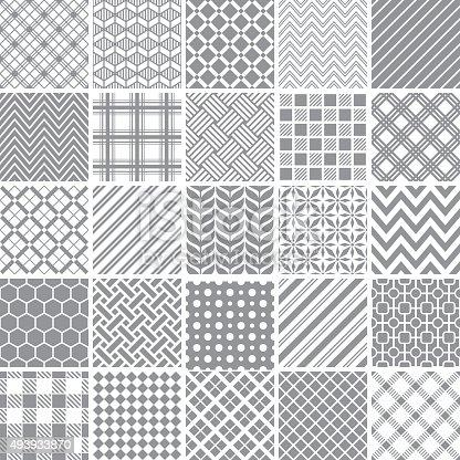 Set of geometric patterns.