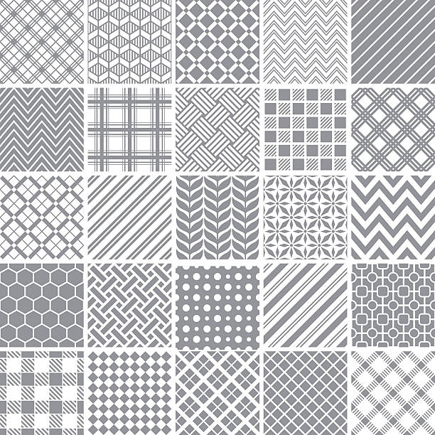 Seamless pattern Set of geometric patterns. tartan pattern stock illustrations