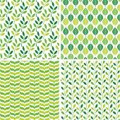 Set of 4 seamless patterns.