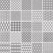Set of simple lines patterns.
