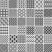 Set of simple geometric patterns.