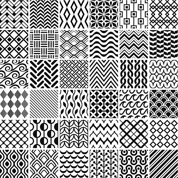 seamless pattern - tile pattern stock illustrations, clip art, cartoons, & icons