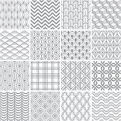 Set of simple geometric patterns.
