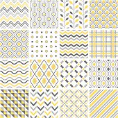 Set of 16 geometric patterns.