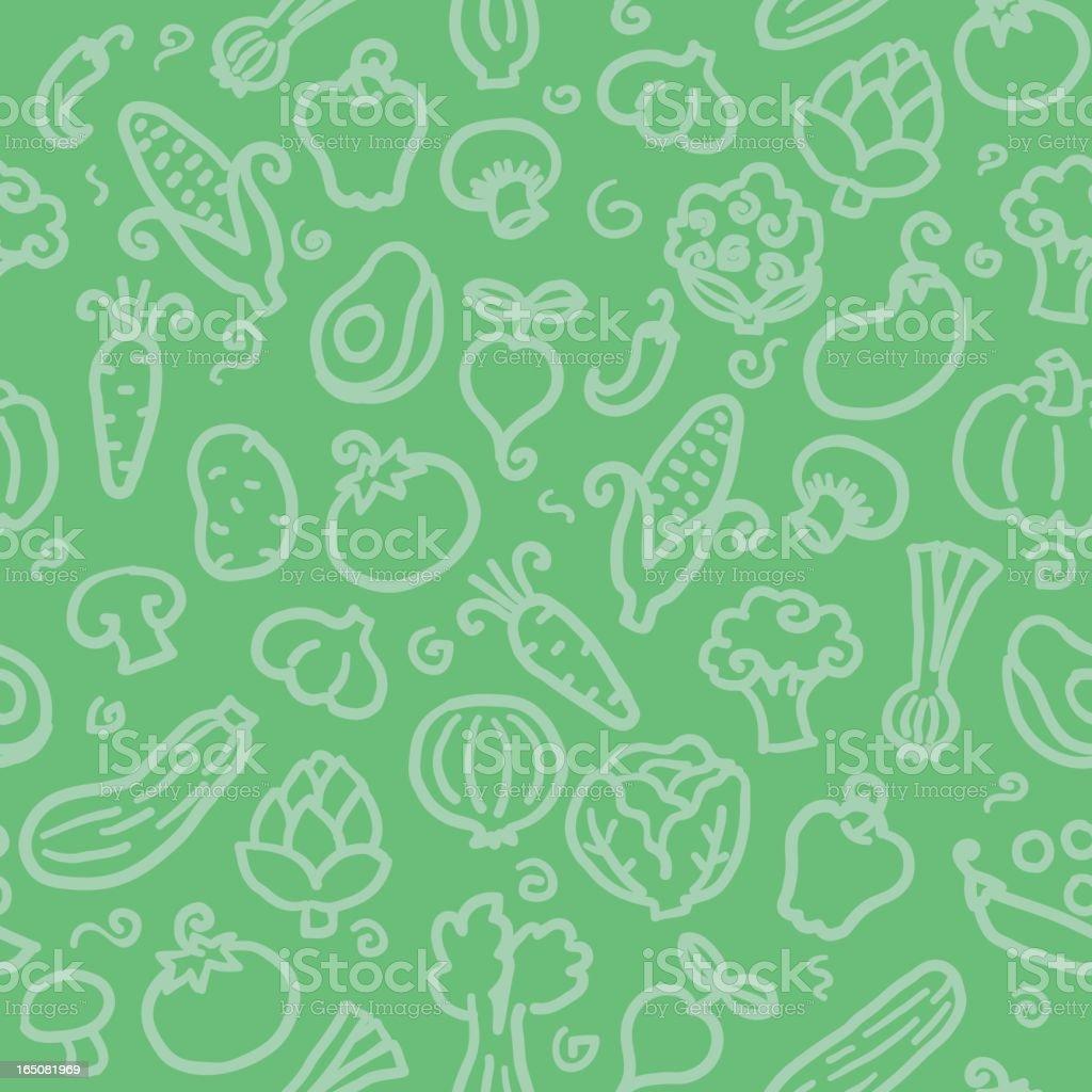 seamless pattern: veggies royalty-free stock vector art