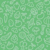seamless background with hand drawn vegetable illustrations. just drop into your illustrator swatches and use as a tiled fill. more similar images: