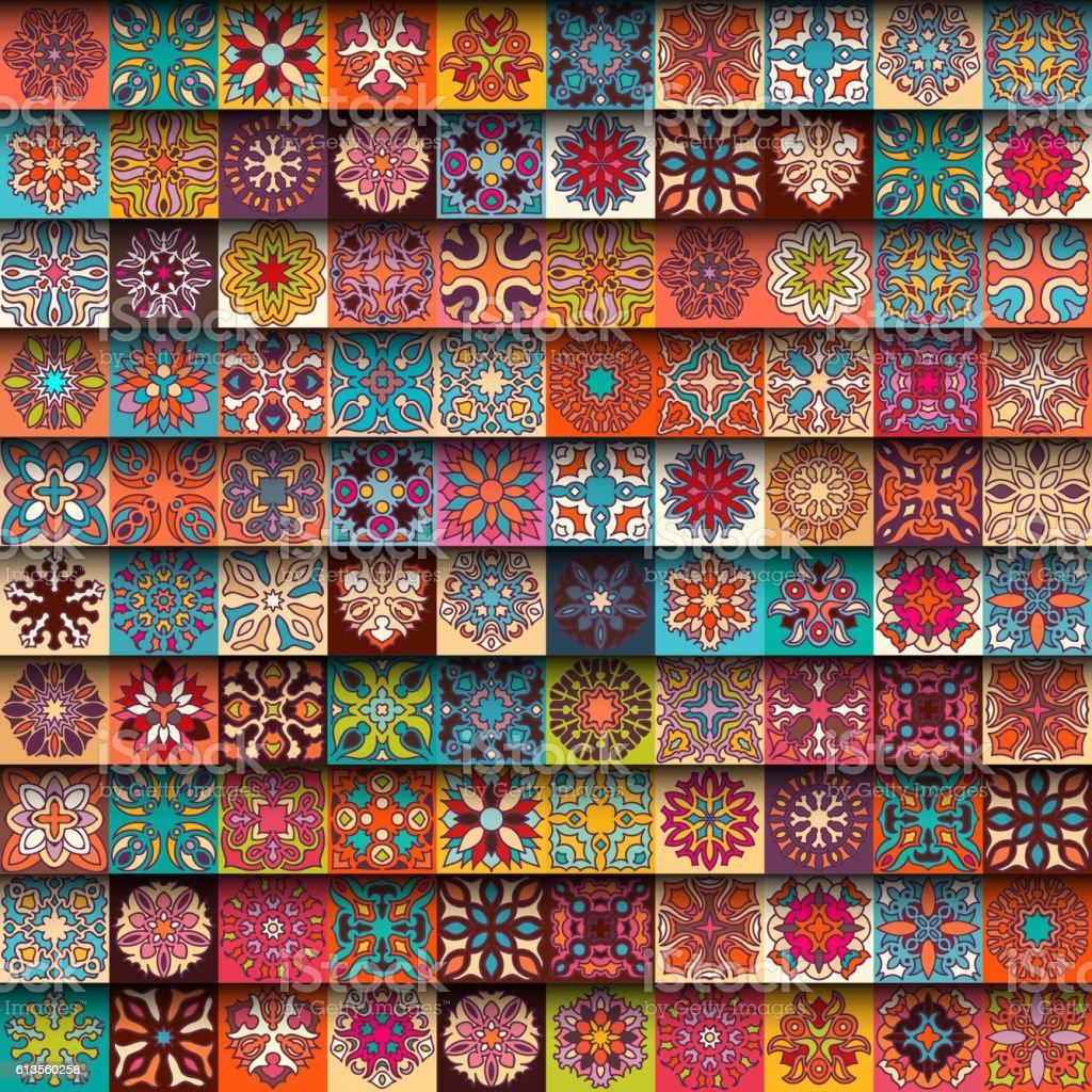 Seamless pattern. Vintage decorative elements. vector art illustration