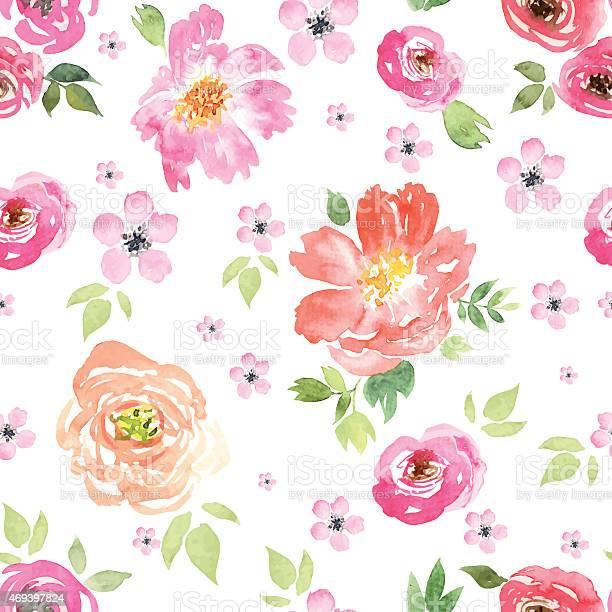 Seamless pattern watercolor flowers vector id469397824?b=1&k=6&m=469397824&s=612x612&h=jrlsl2fplplxcfifd hbtgvht4plxige3bkk5qbgnus=