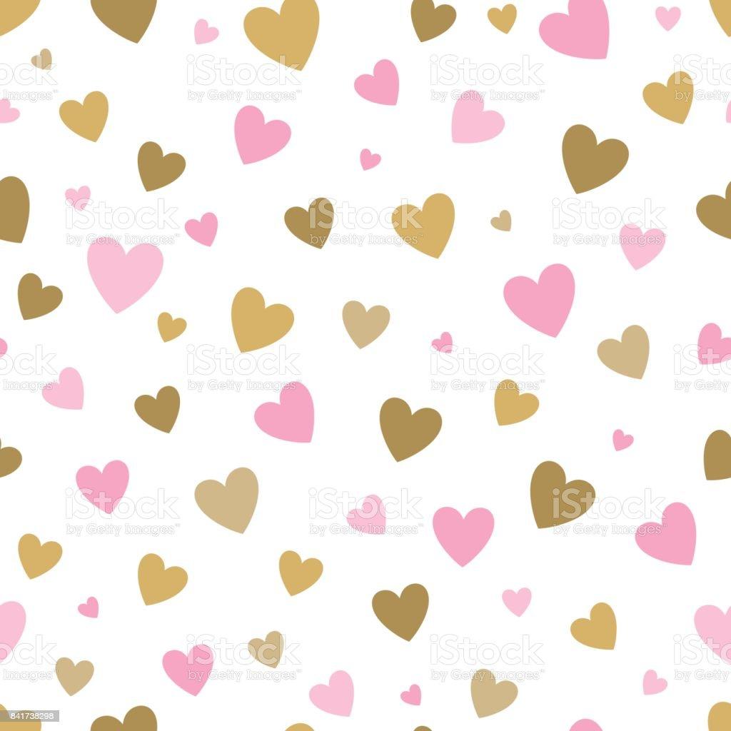 b93dd237c30b9 transparente blanco de fondo con corazones rosados y oro. diseño de tarjeta  de felicitación del