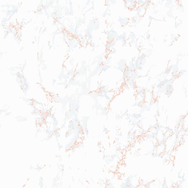 bildbanksillustrationer, clip art samt tecknat material och ikoner med seamless mönster. vit marmor textur. rose guld. - marble