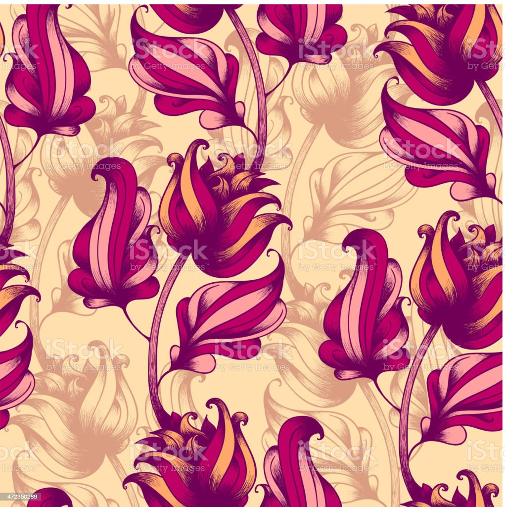 Seamless pattern with abstract flowers royalty-free seamless pattern with abstract flowers stock vector art & more images of abstract