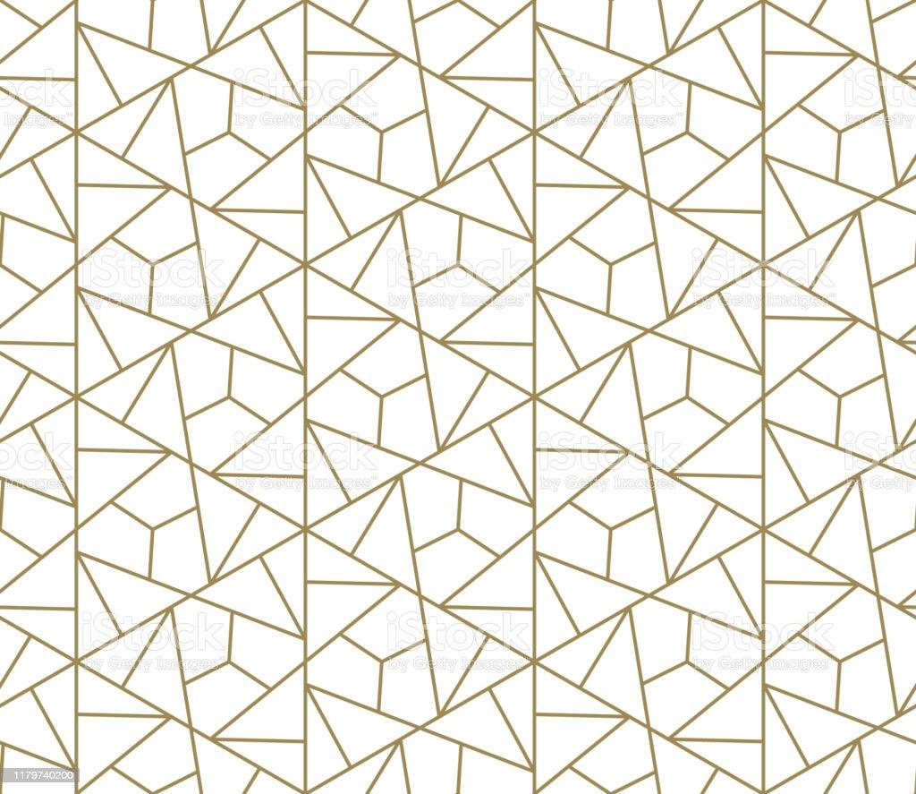 抽象的な幾何学的な線の質感白い背景に金とシームレスなパターンライト