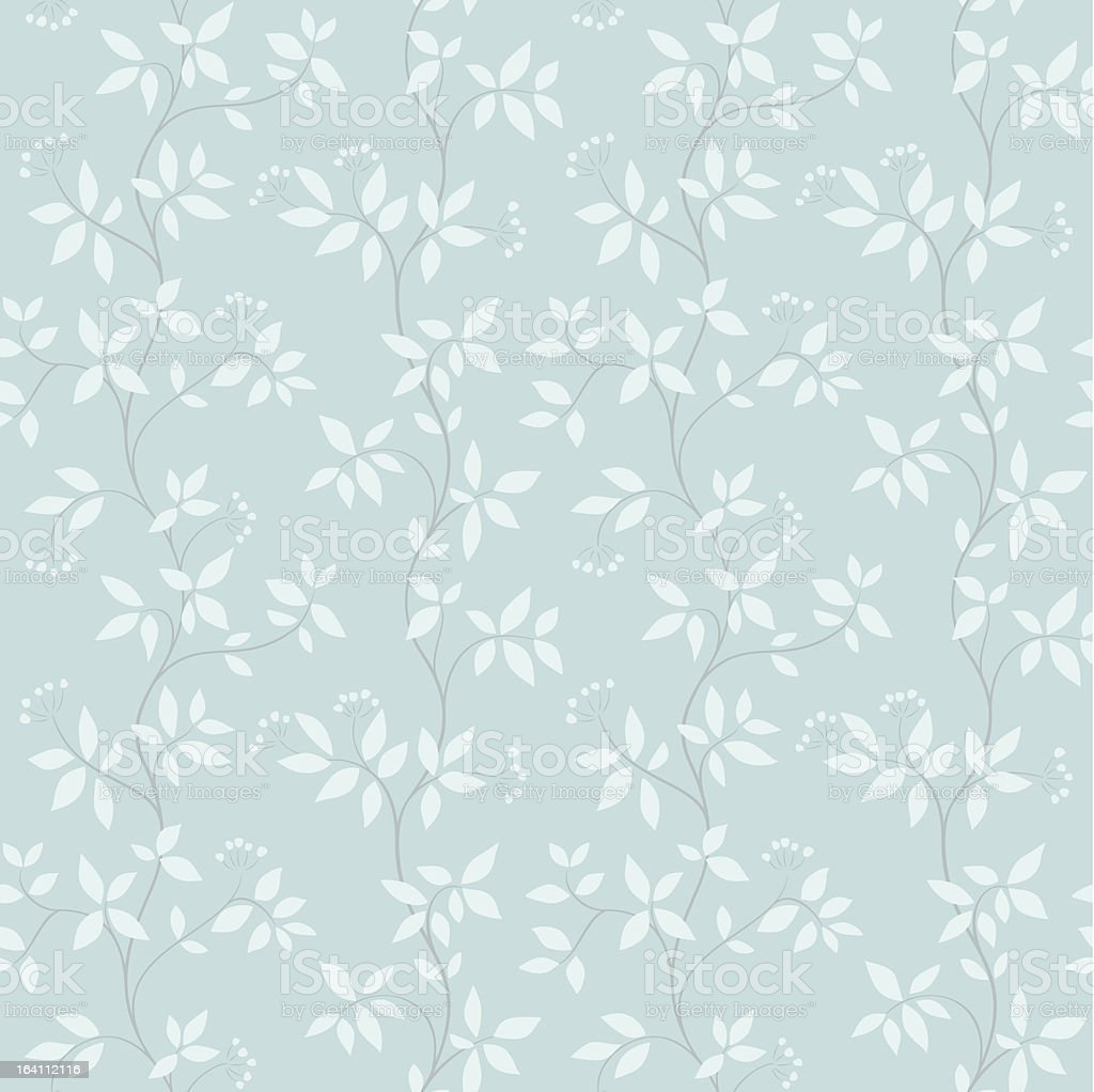Seamless pattern with abstract leaves. royalty-free stock vector art