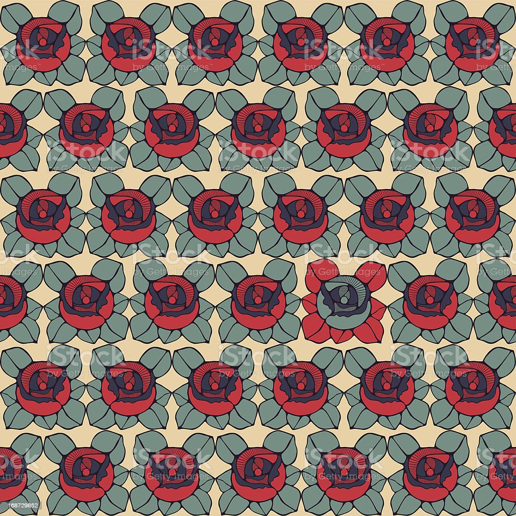 Seamless pattern with abstract roses flowers royalty-free seamless pattern with abstract roses flowers stock vector art & more images of abstract