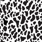 Seamless pattern with abstract spots