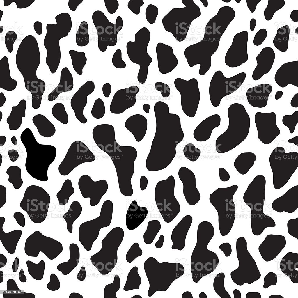 Seamless pattern with abstract spots vector art illustration