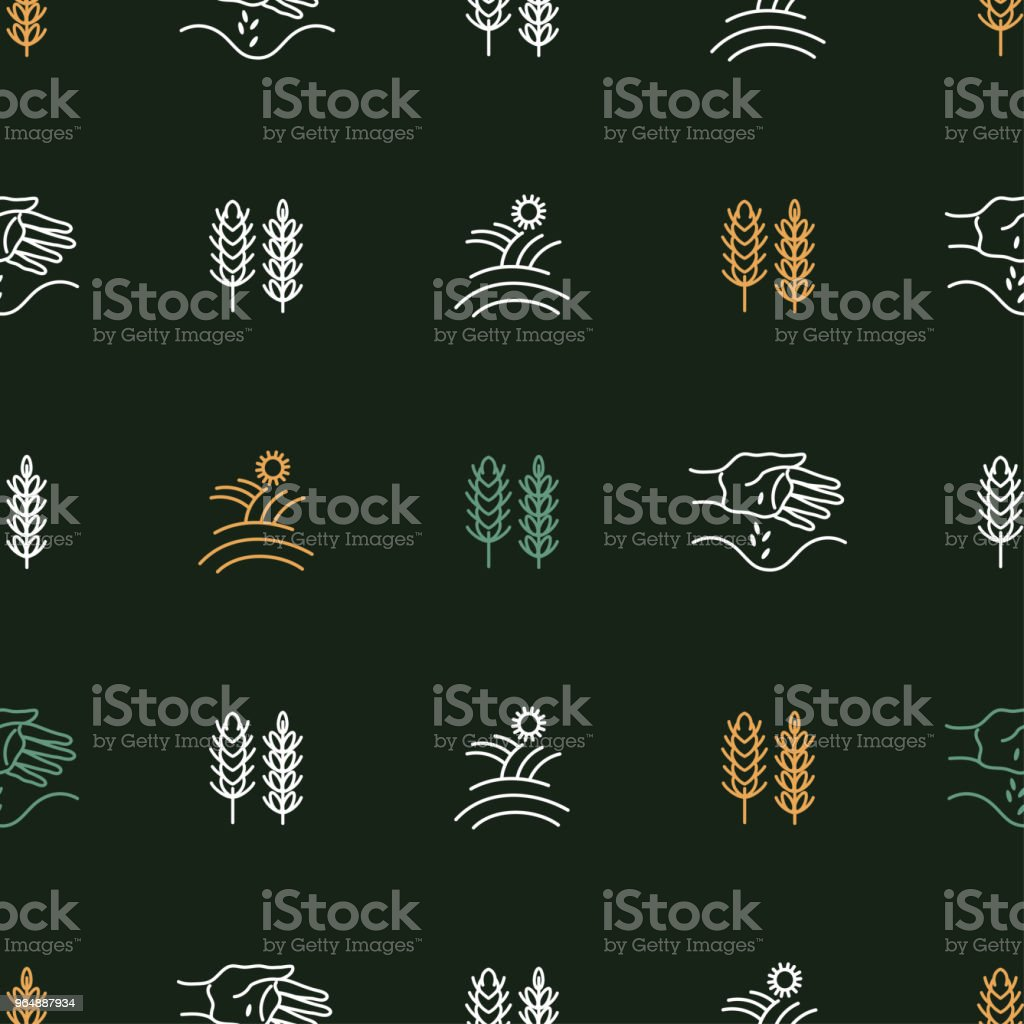 Seamless pattern with agricultural icons royalty-free seamless pattern with agricultural icons stock vector art & more images of agricultural field