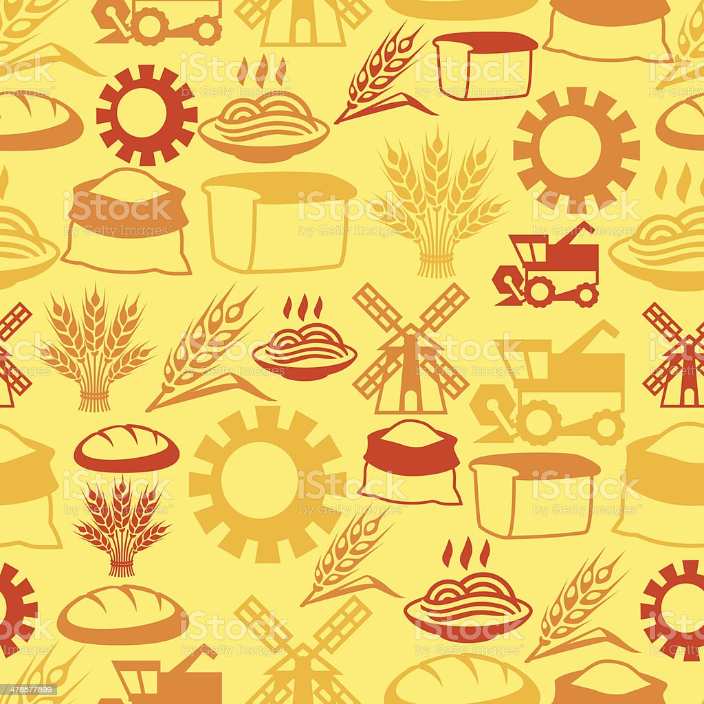 Seamless pattern with agricultural objects. royalty-free stock vector art