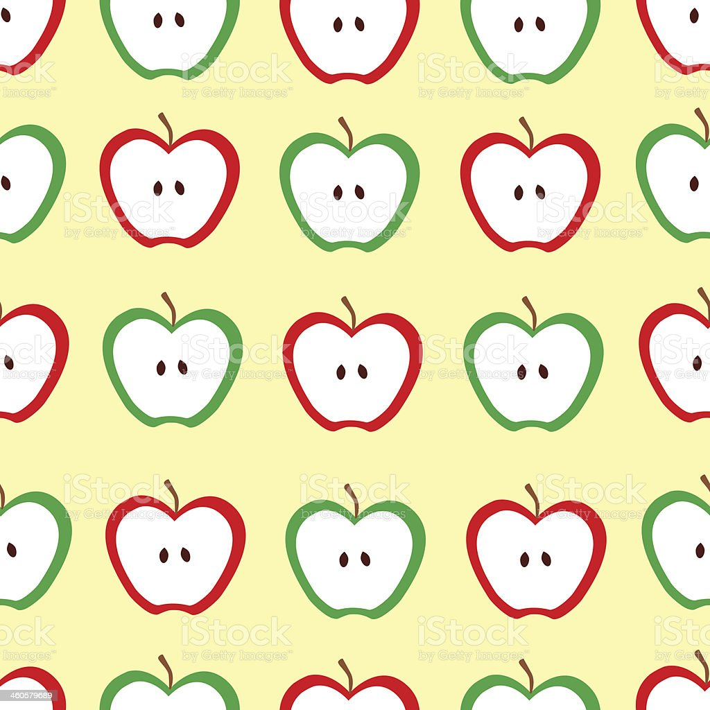 Seamless pattern with apples royalty-free stock vector art