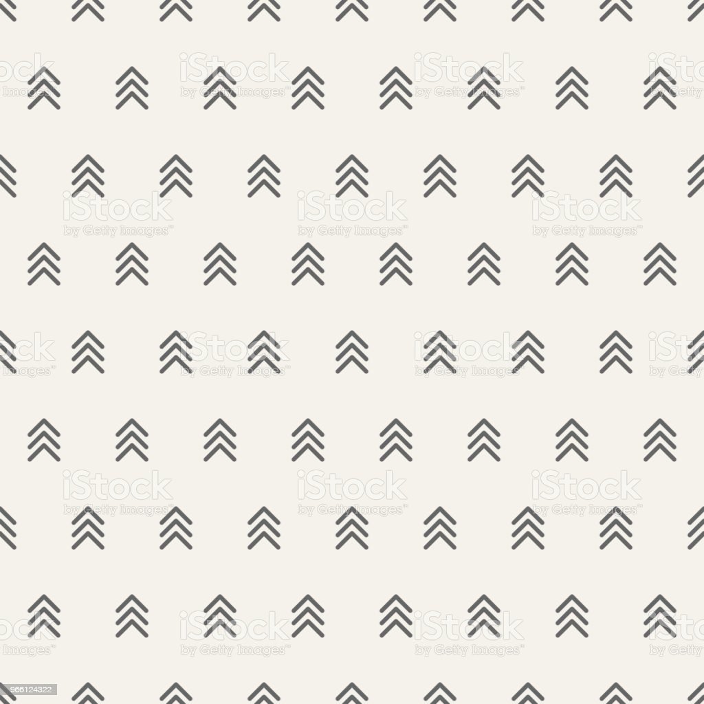 Seamless pattern with arrows motif. Minimalist abstract background. - Royalty-free Abstrato arte vetorial