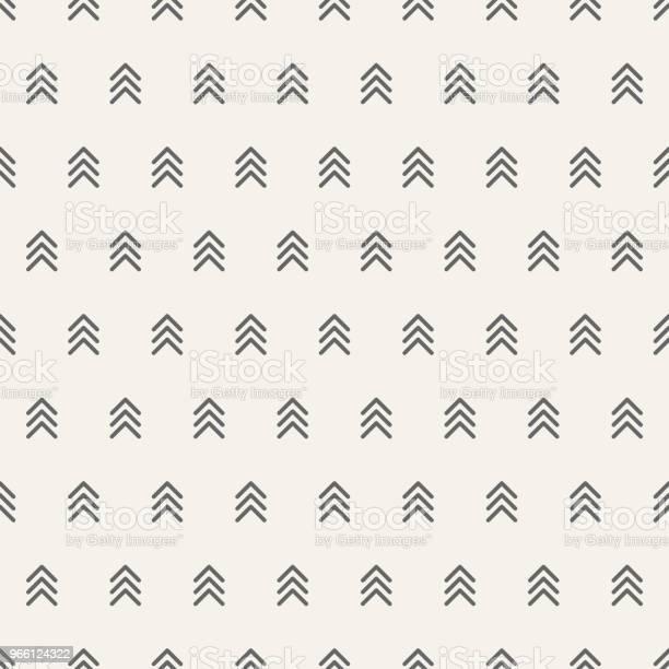 Seamless Mönster Med Pilar Motiv Minimalistisk Abstrakt Bakgrund-vektorgrafik och fler bilder på Abstrakt