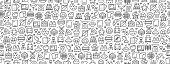 Seamless Pattern with Bakery Icons