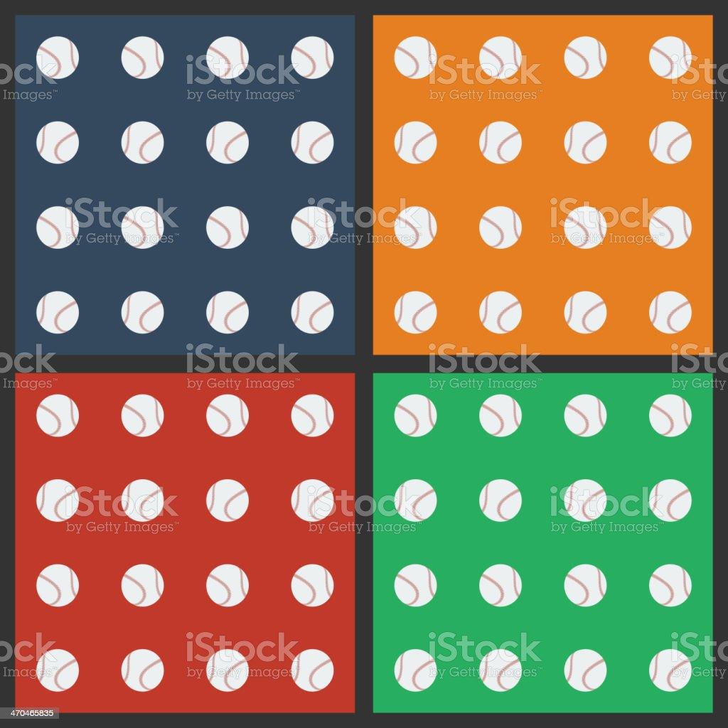 Seamless pattern with baseball balls vector art illustration