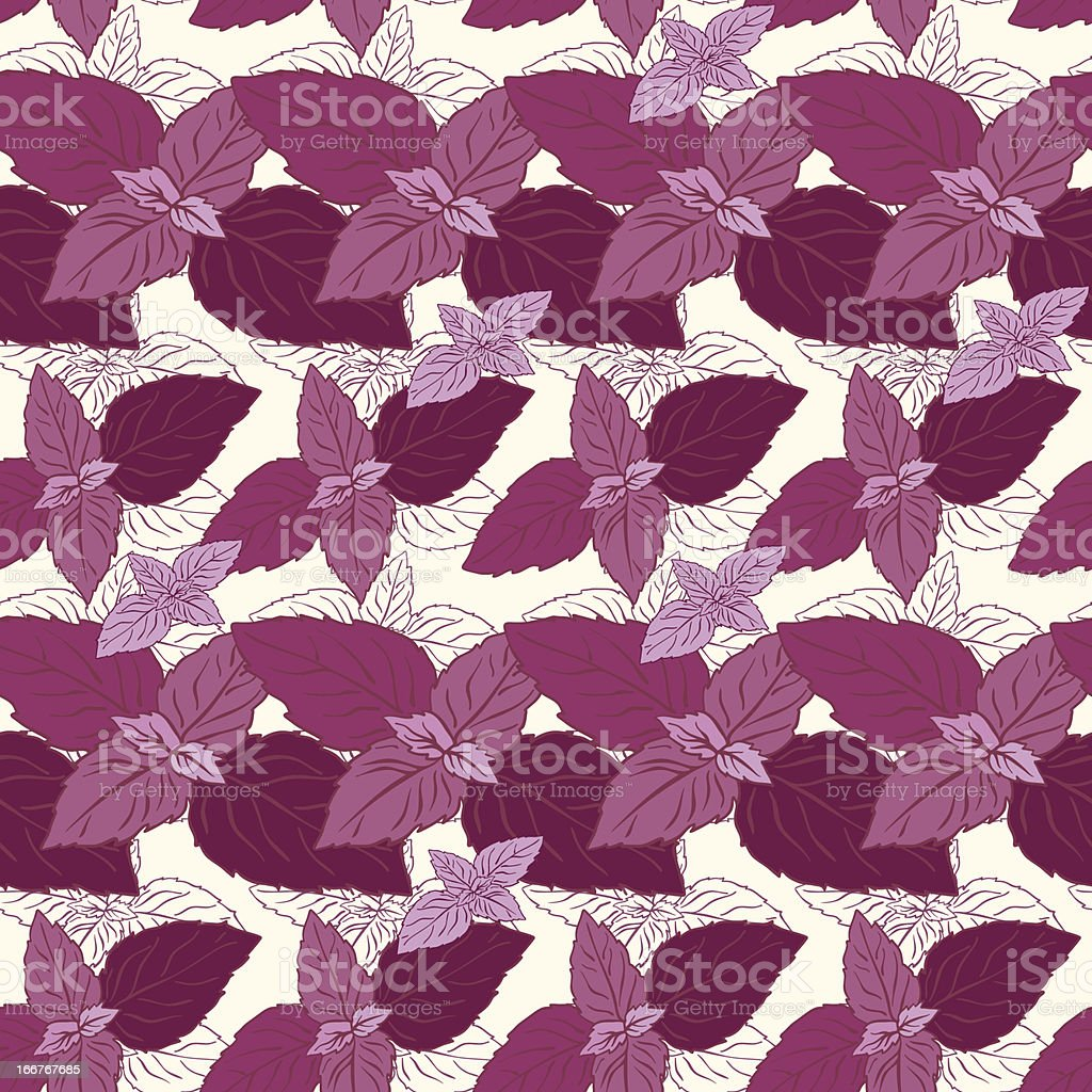 Seamless pattern with basil royalty-free seamless pattern with basil stock vector art & more images of art