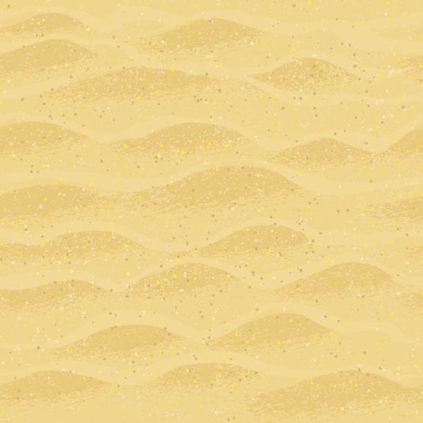 ilustraciones, imágenes clip art, dibujos animados e iconos de stock de patrón continuo con arena de la playa. - arena