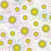 Seamless pattern with beautiful daisy. blooming flower. Cloth pastel colors.