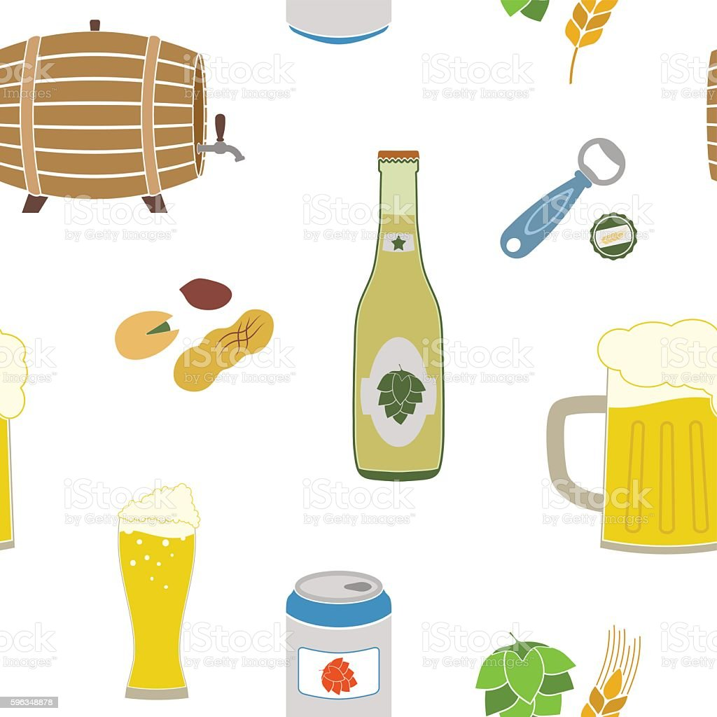 Seamless pattern with beer icons royalty-free seamless pattern with beer icons stock vector art & more images of alcohol