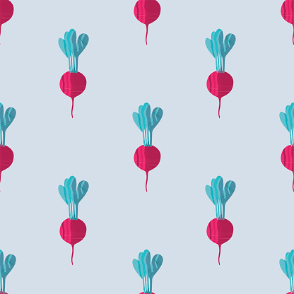 Seamless pattern with beetroots