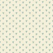 seamless pattern with beige hearts on turquoise diagonal texture background