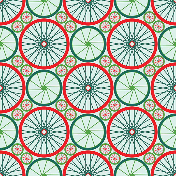 nahtlose muster mit dem fahrrad zu erkunden. - lustige fahrrad stock-grafiken, -clipart, -cartoons und -symbole