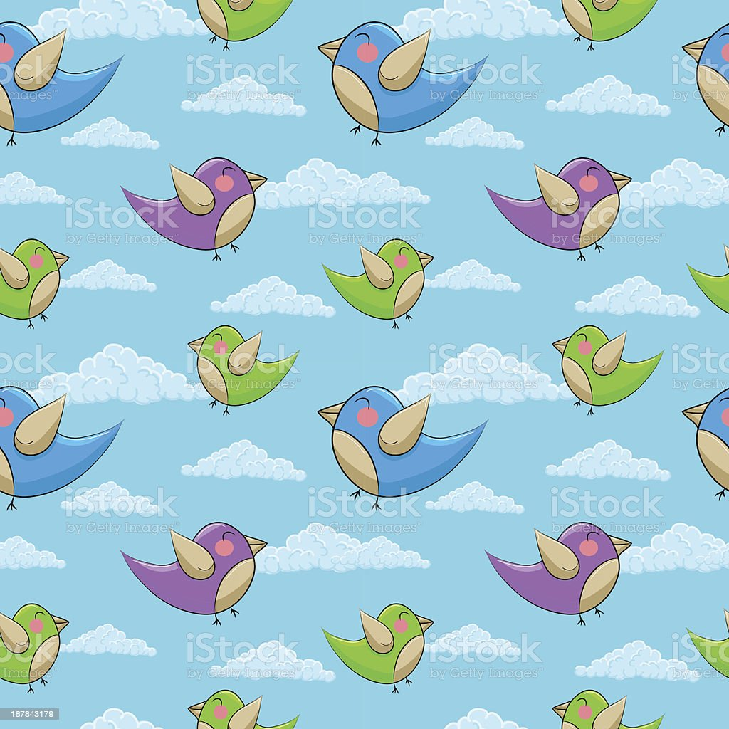 seamless pattern with birds royalty-free seamless pattern with birds stock vector art & more images of abstract