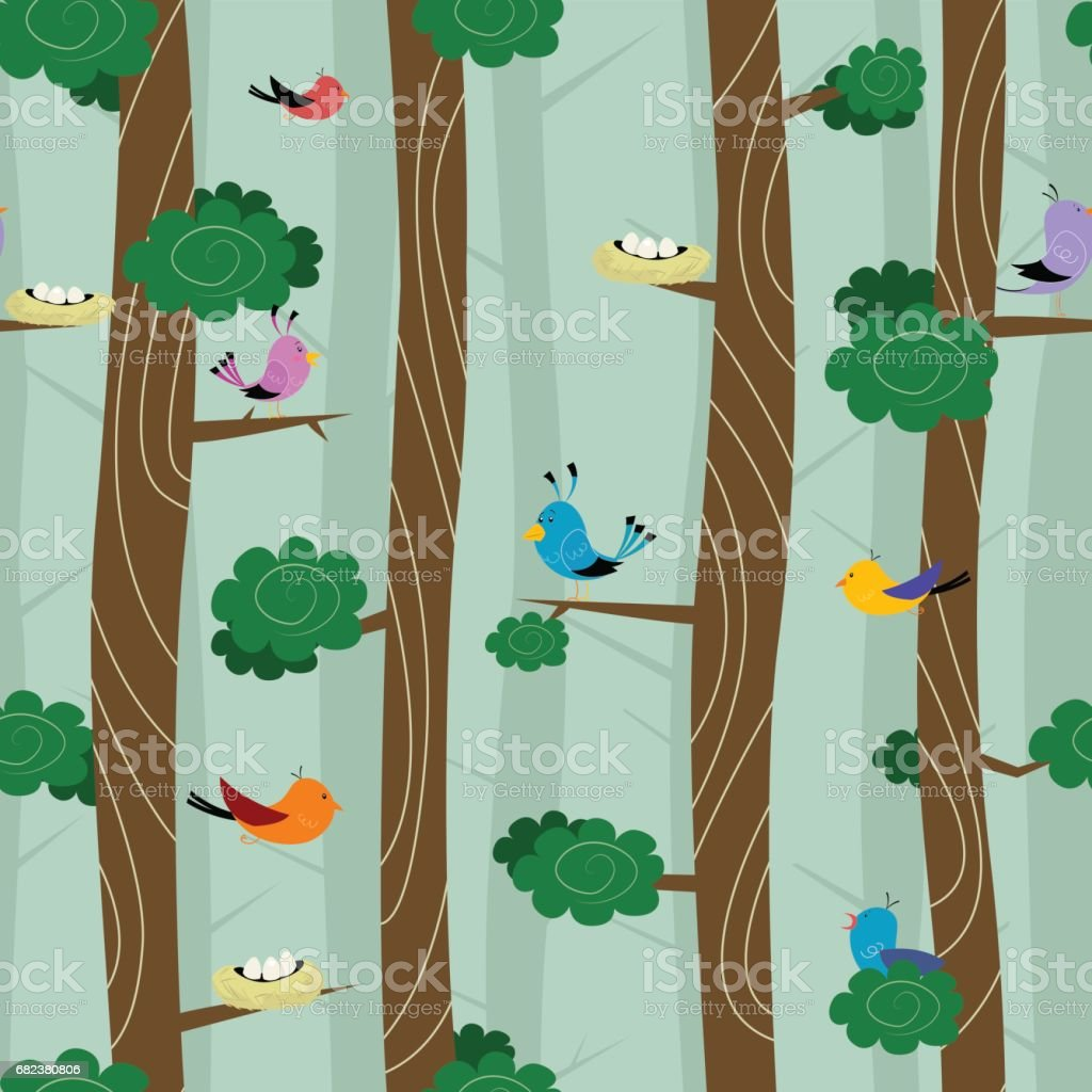 Seamless pattern with birds royalty-free seamless pattern with birds stock vector art & more images of animal