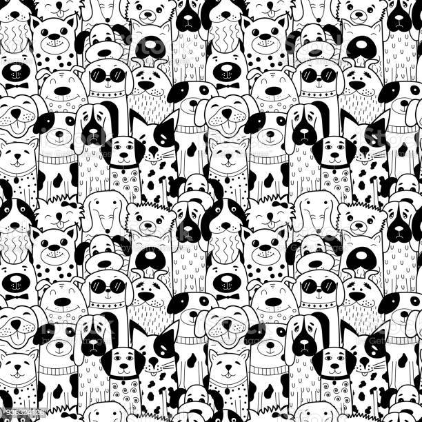 Seamless pattern with black and white doodle dogs vector id936324126?b=1&k=6&m=936324126&s=612x612&h=eeyhn849rtsgtngl0yb qbjgjoiw1de6ppzbocny kq=